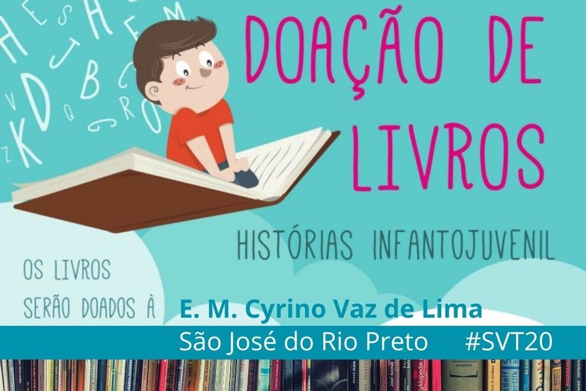 Arrecadação de Livros para SVT20 em São José do Rio Preto