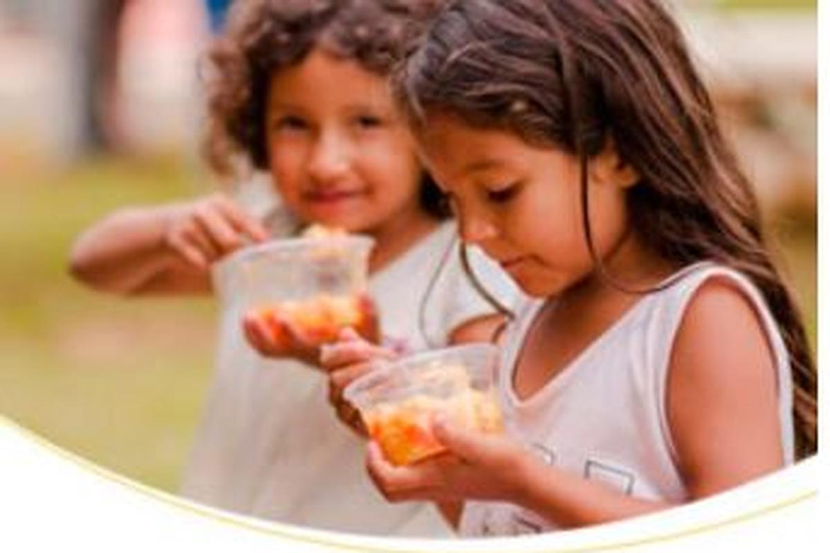 Entrega dos alimentos  em Araxá