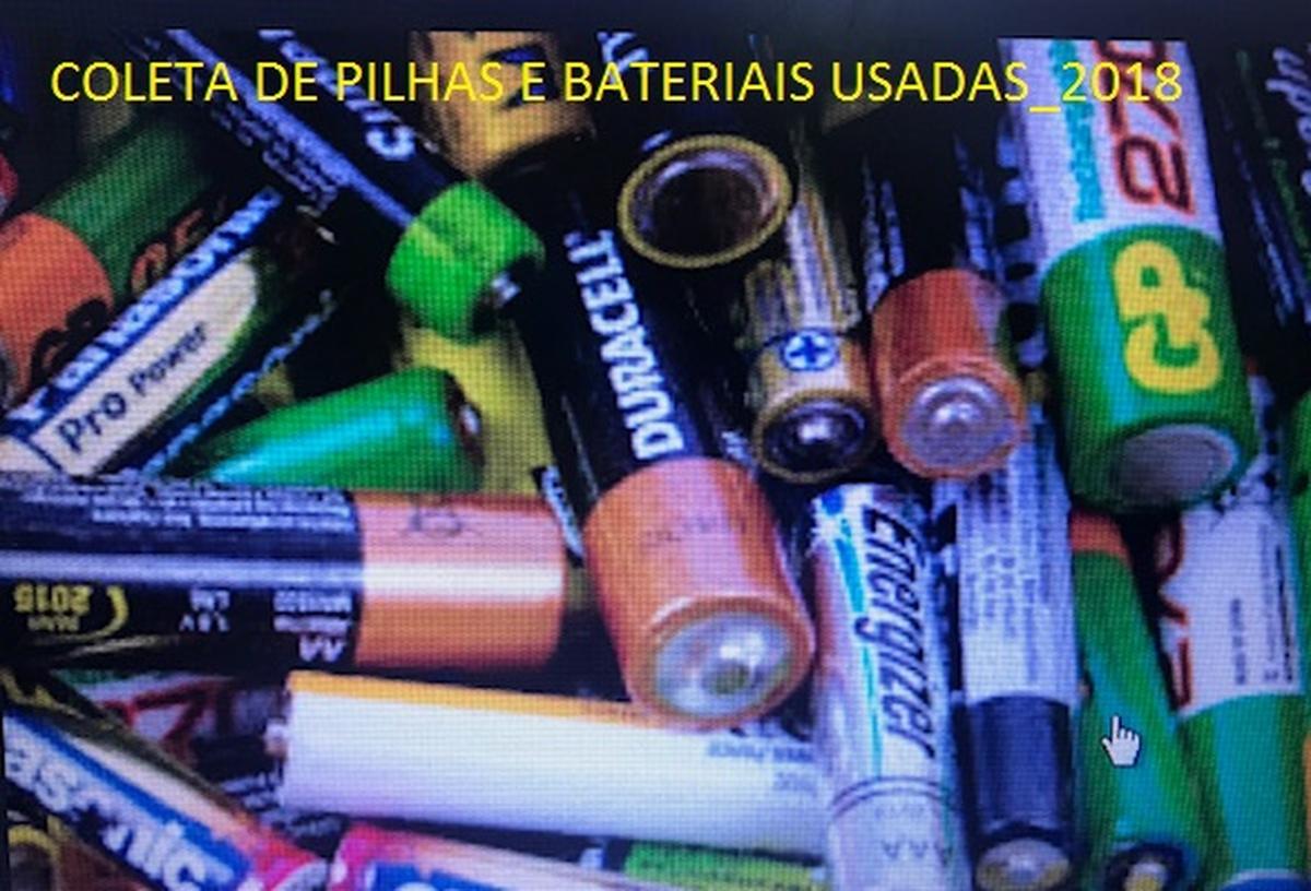 Arrecadação de Pilhas e Baterias usadas para Reciclagem_2018