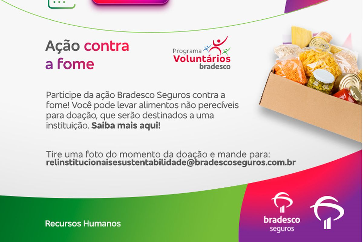 Bradesco Seguros ação contra a fome - Drive-Thru Rio de Janeiro - 2021