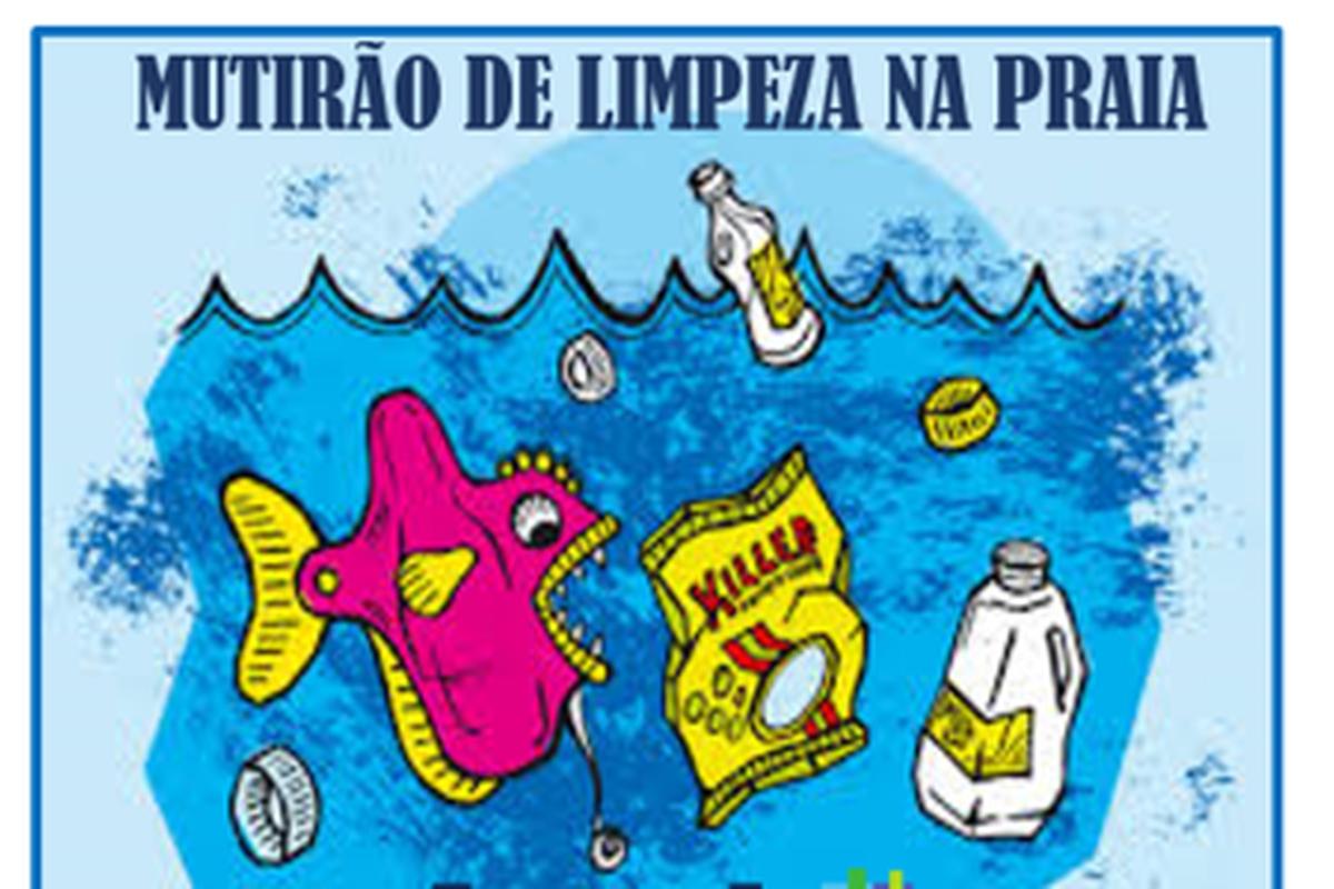 MUTIRÃO DE LIMPEZA NA PRAIA