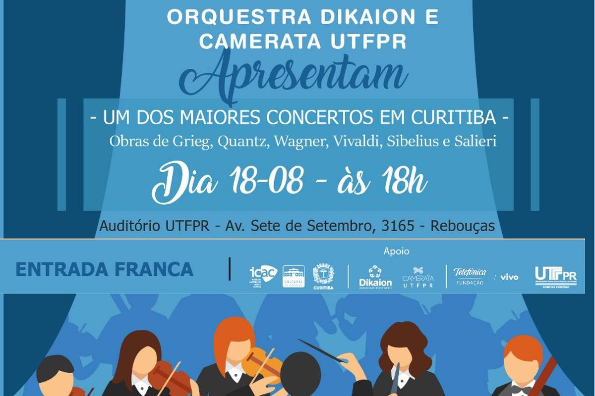 Concerto Camerata UTFPR + Orquestra Transforma Som.