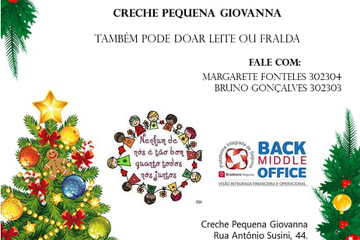 Back Middle Office Solidario - Pequena Giovanna