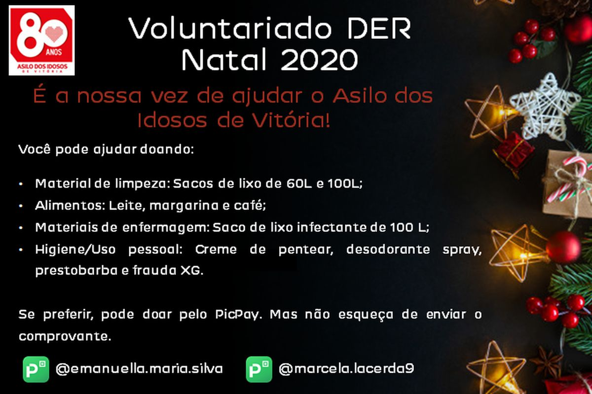 Voluntariado DER Natal 2020