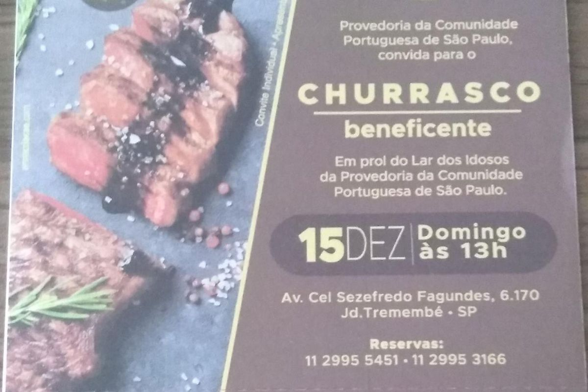 Churrasco Beneficente - Provedoria