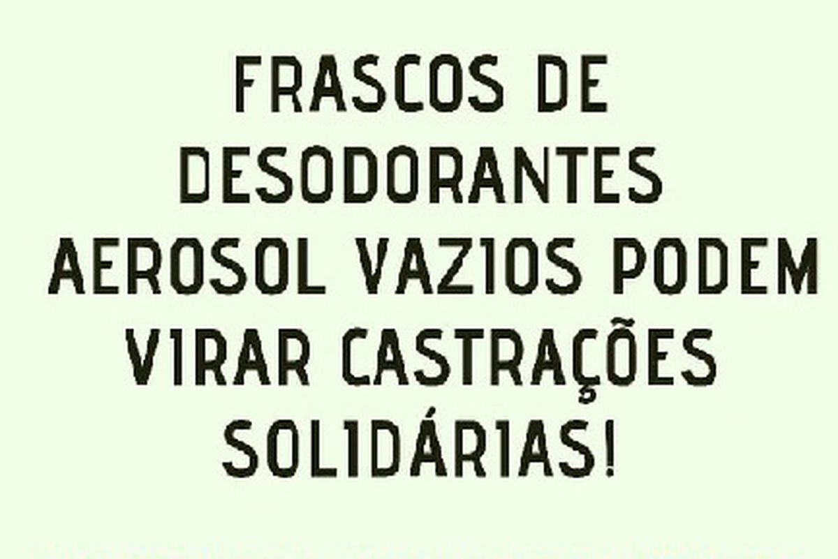 CASTRAÇÕES SOLIDÁRIAS.