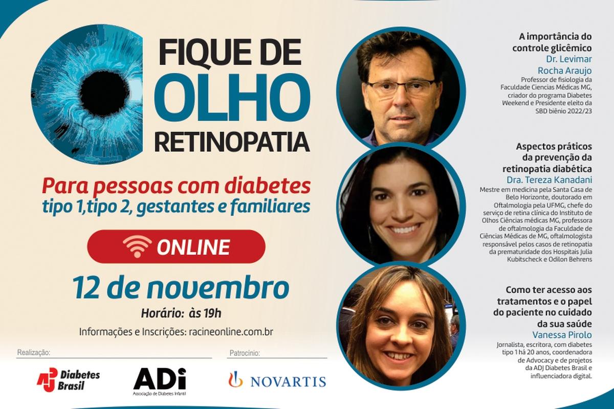 ADJ Diabetes Brasil finaliza a campanha Retinopatia