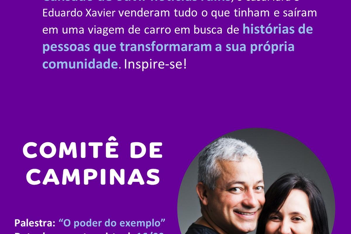 Encontro virtual com Caçadores de Bons Exemplos - Campinas - 16/09 às 10h00 (horário de Brasília)