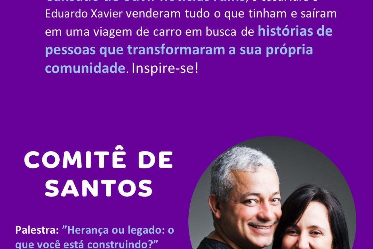 Encontro virtual com Caçadores de Bons Exemplos - Santos - 21/09 às 18h00 (horário de Brasília)