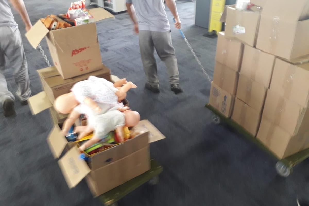 """Doação de Alimentos e Brinquedos """"Casa do Papai Noel 2020"""""""