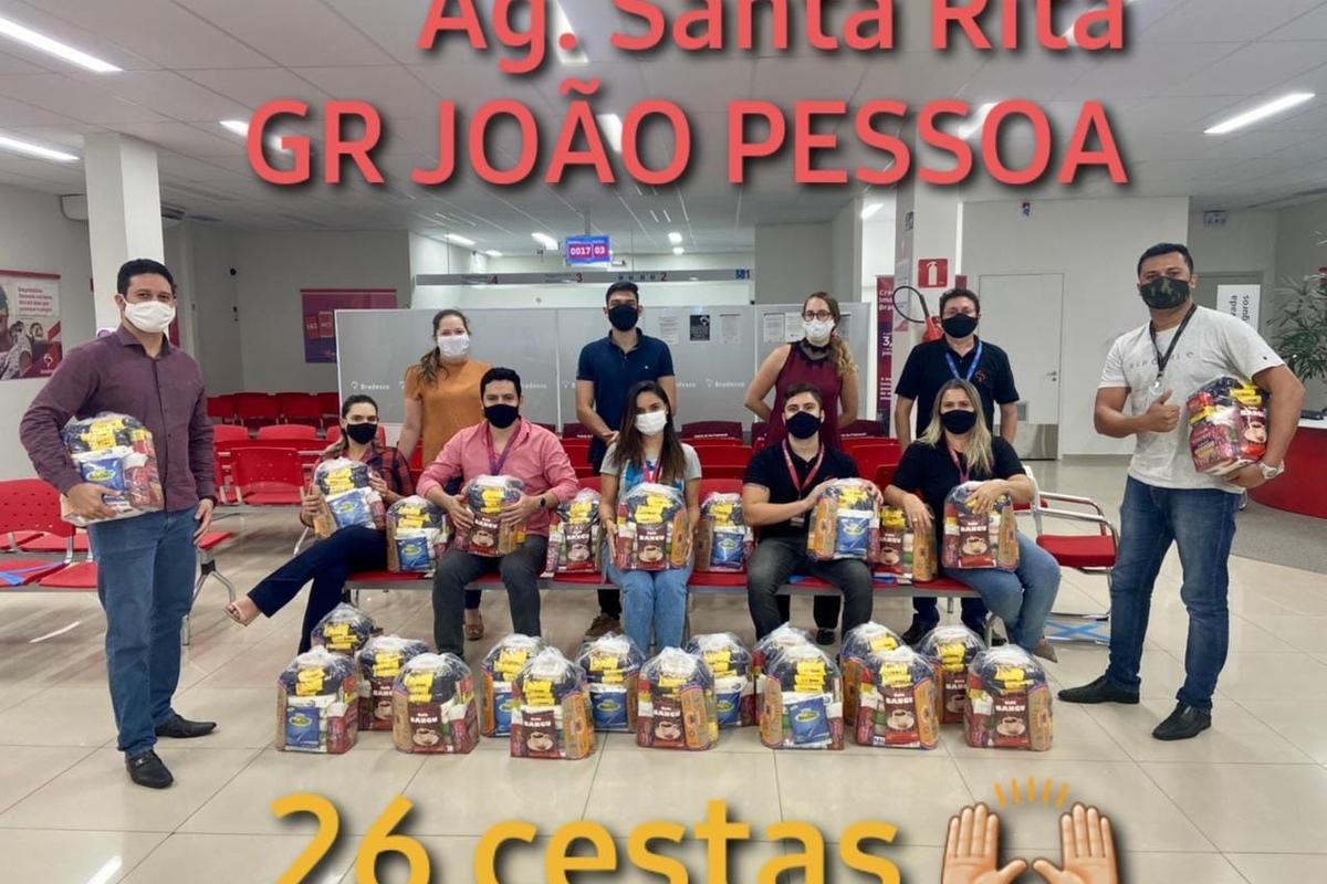 Voluntários Bradesco contra a fome - AG 2010/Santa Rita - 2021