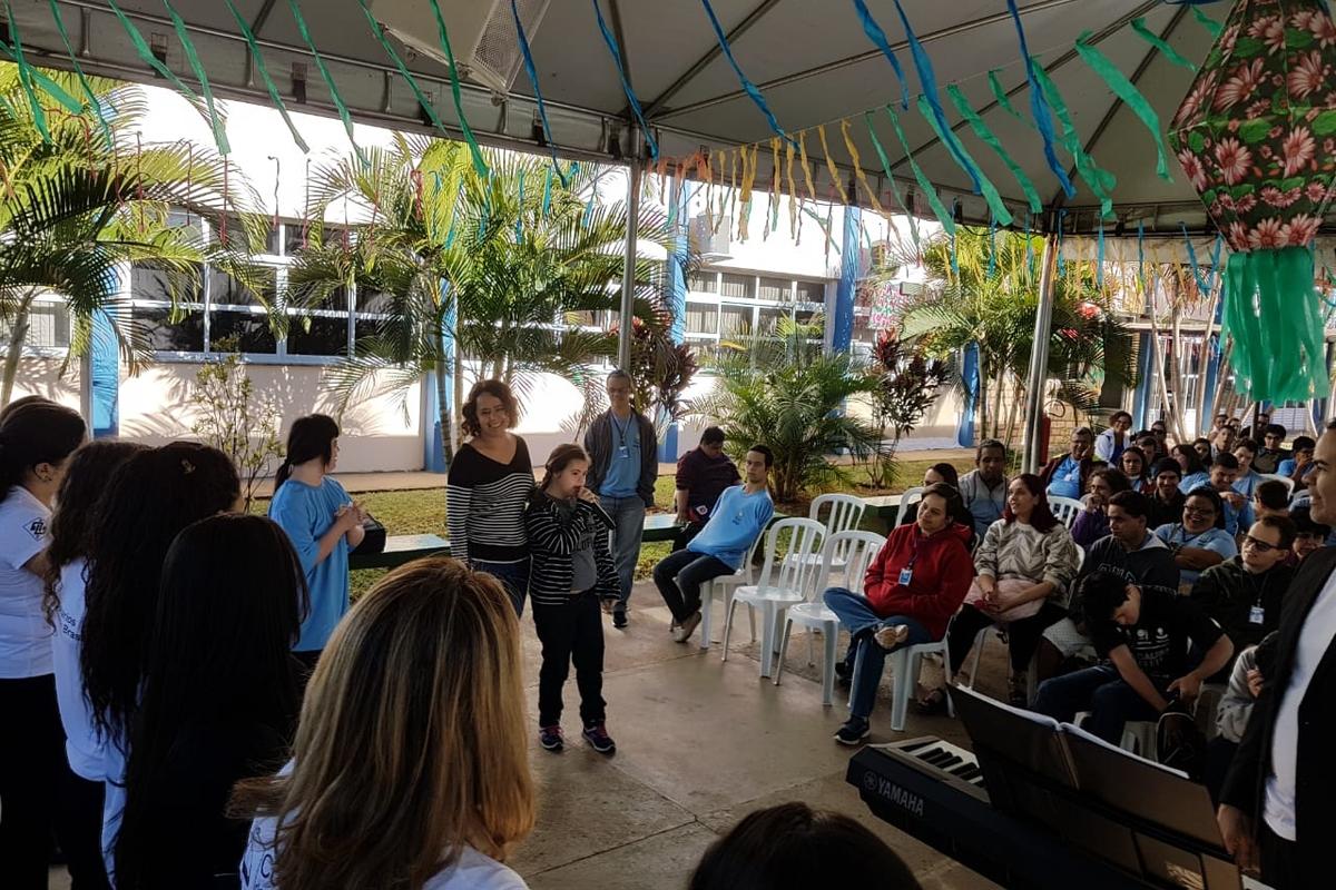 Participação do Coral dos Funcionários do BB na APAE DF