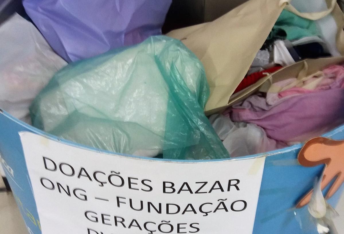 Doações de itens diversos para o Bazar da ONG