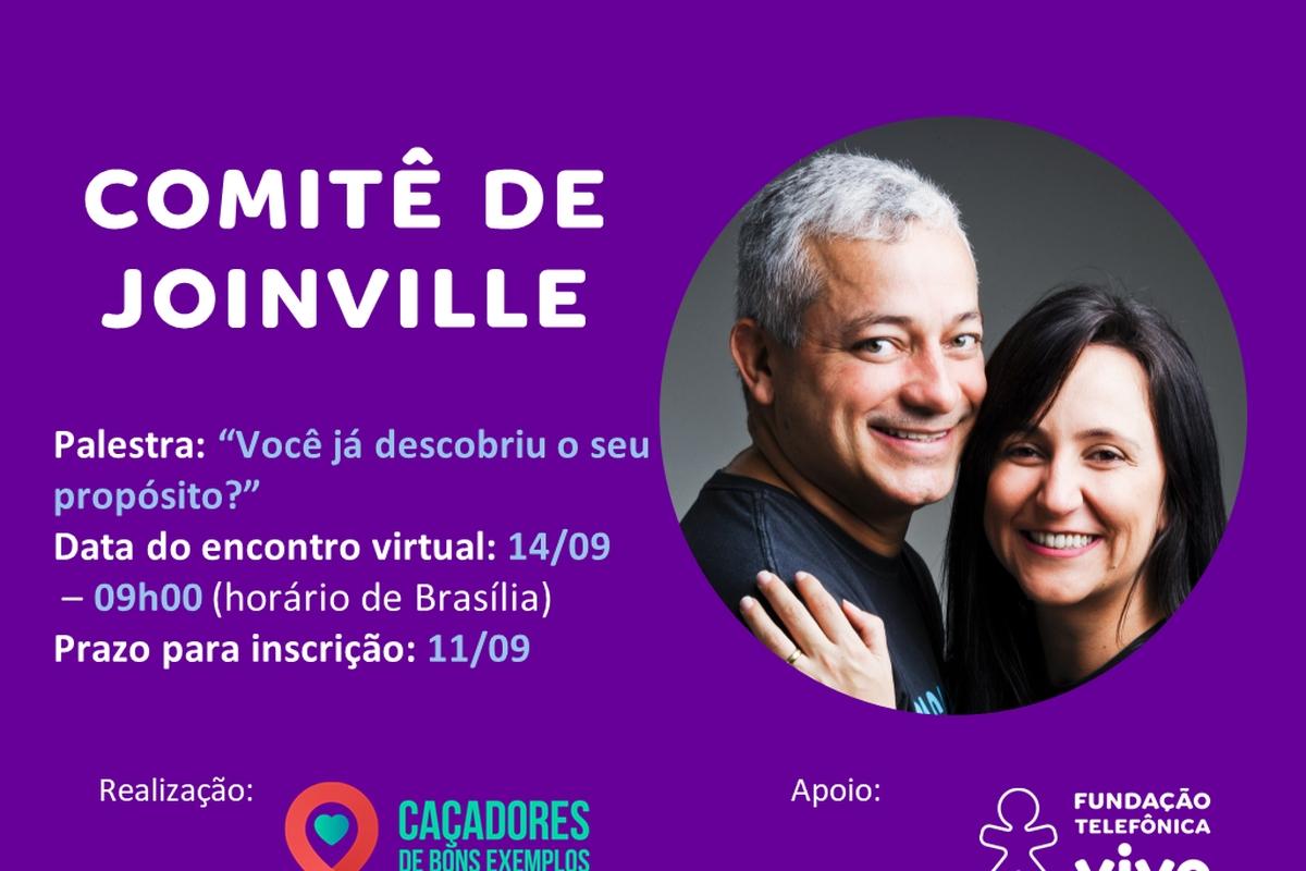 Encontro virtual com Caçadores de Bons Exemplos - Joinville - 14/09 às 09h00 (horário de Brasília)