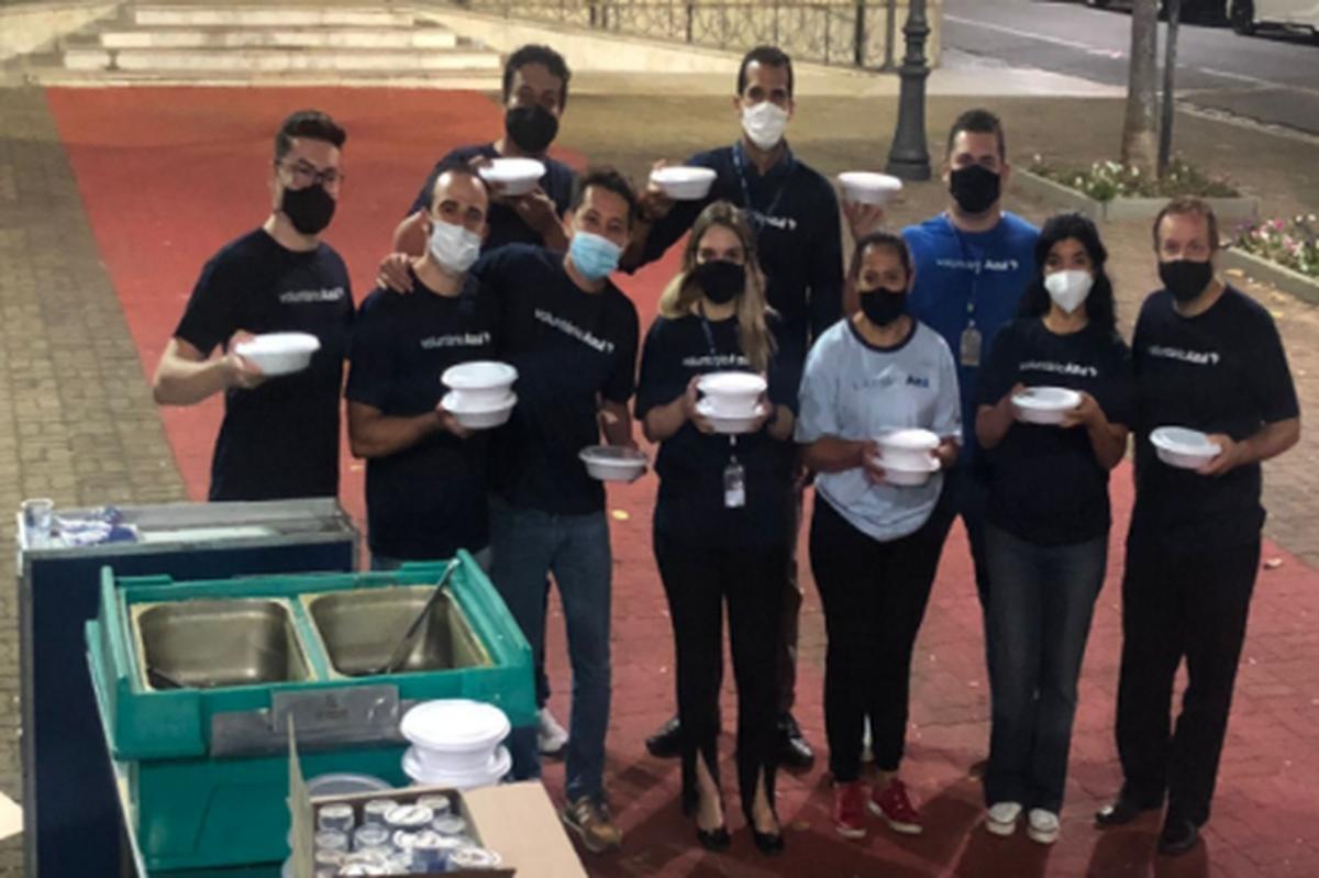 Dia da Sopa, entrega de alimentos centro de Campinas