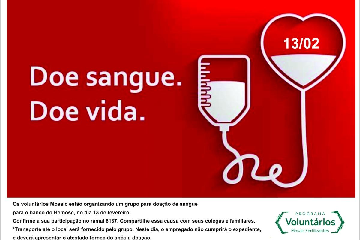 Campanha de Doação de Sangue - Voluntários Taquari Vassouras