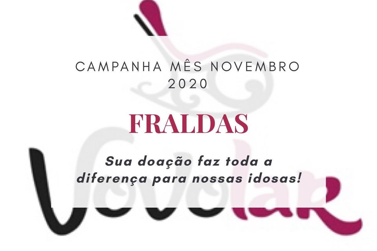 """VOVOLAR LAJEADO - Campanha mês Novembro 2020 """"Fraldas"""""""