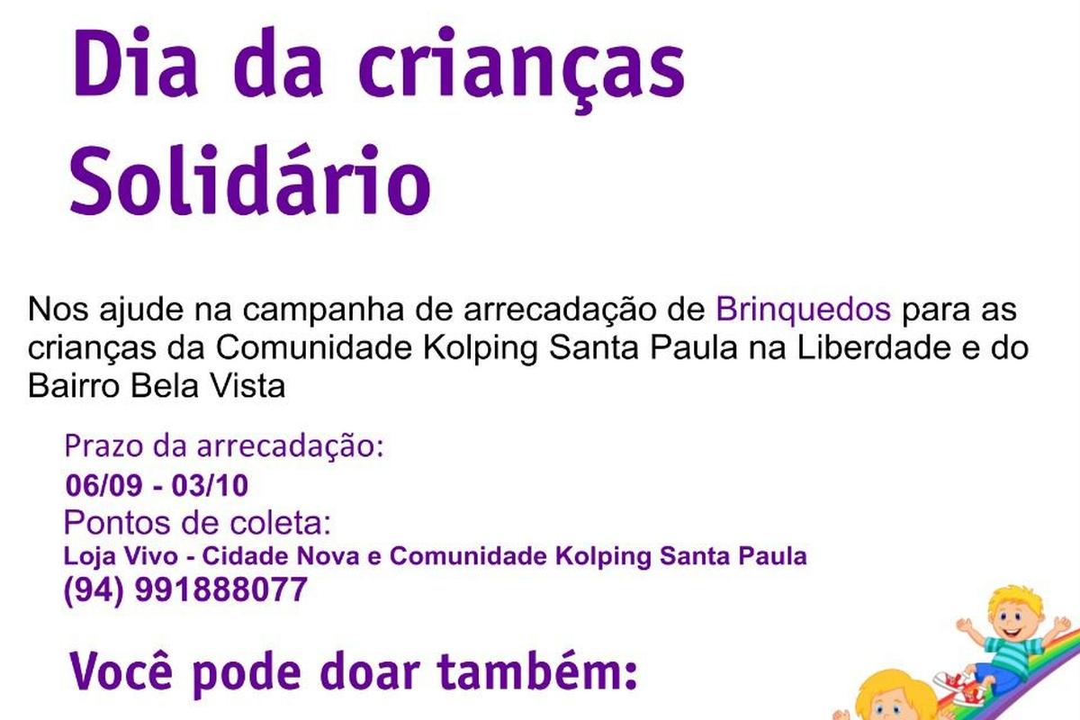 Dia das Crianças Solidário - Obra Kolping Santa Paula