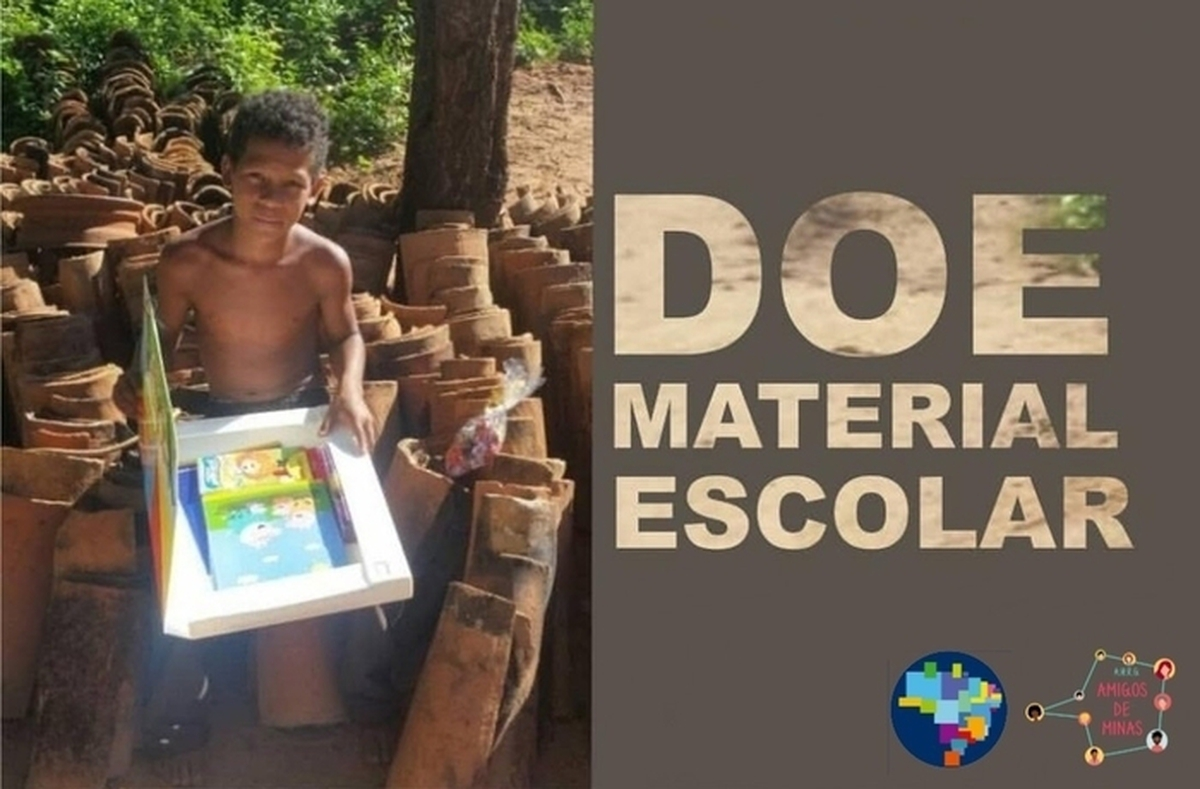 """Ação Azul material Escolar """"Norte de Minas"""""""