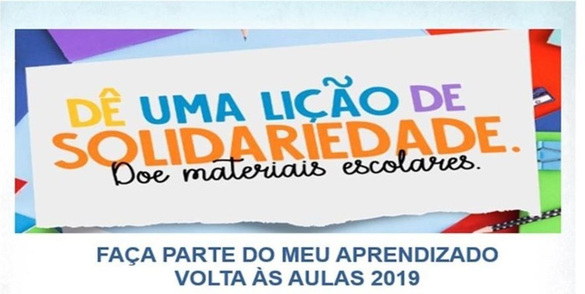 UNIAZUL - ARRECADAÇÃO DE MATERIAIS ESCOLARES 2019