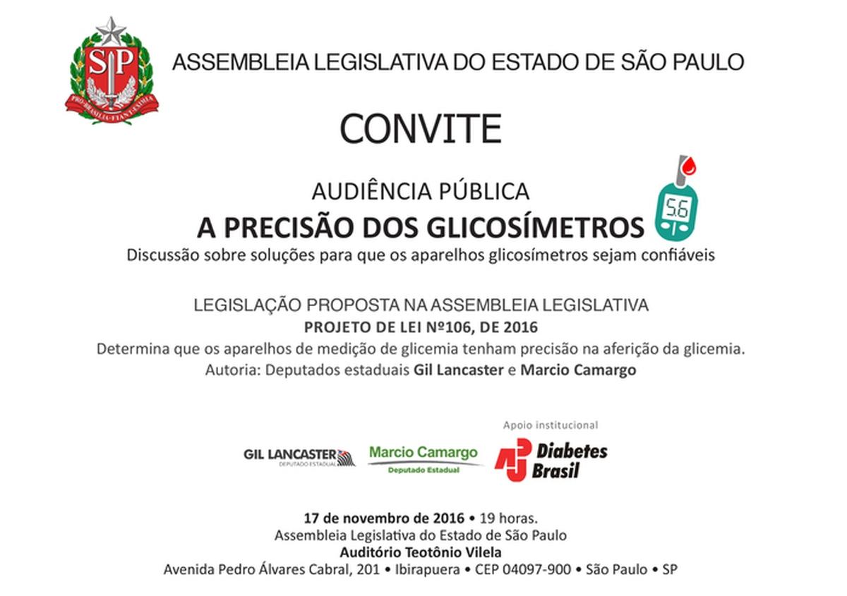 ADJ Diabetes Brasil e Deputados Gil Lancaster e Marcio Camargo realizam Audiência Pública: A Precisão dos Glicosímetros
