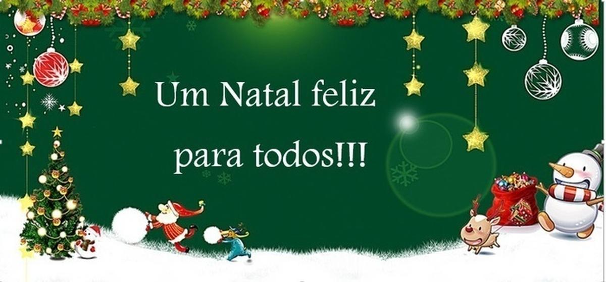 Um Natal Feliz para todos!