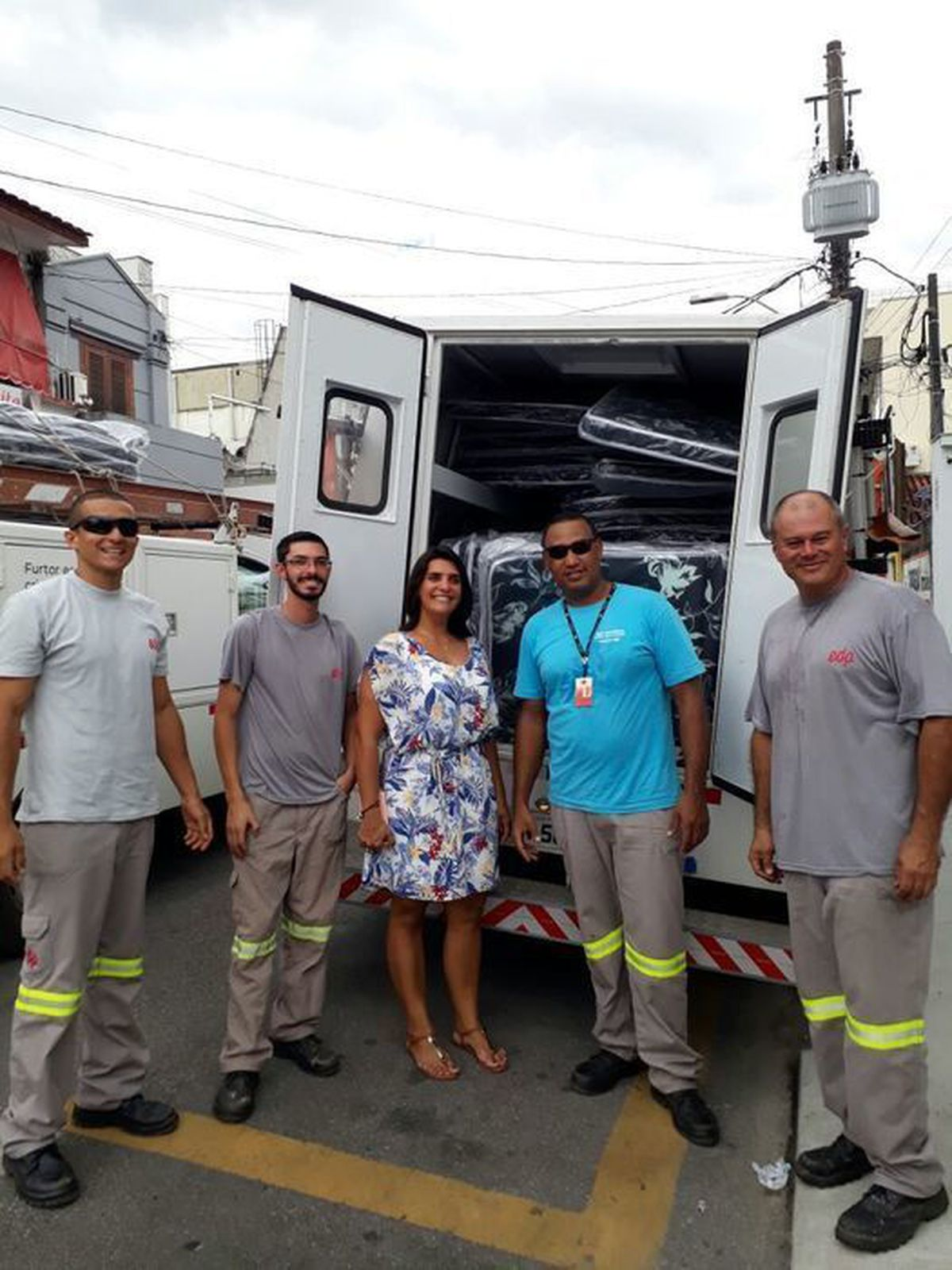 Apoio aos moradores de Caraguatatuba