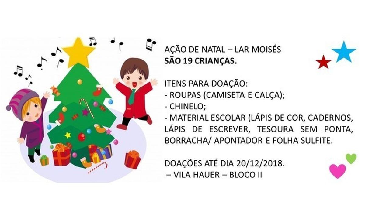Ação de Natal 2018 - Lar Moisés