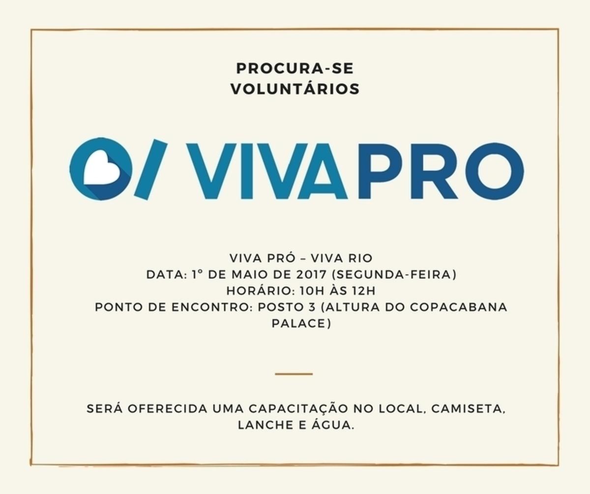 Campanha do aplicativo Viva Pró