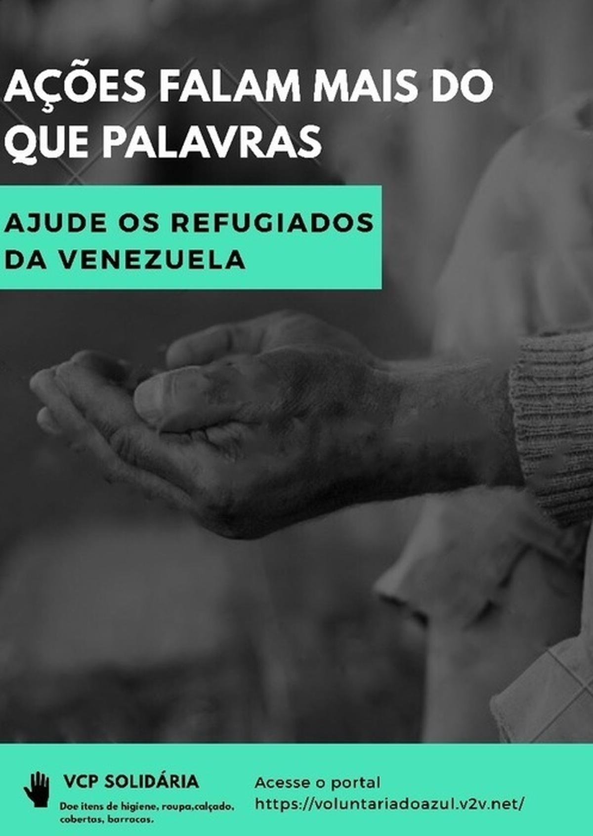 VCP SOLIDARIA - DOAÇÕES AOS REFUGIADOS VENEZUELANOS