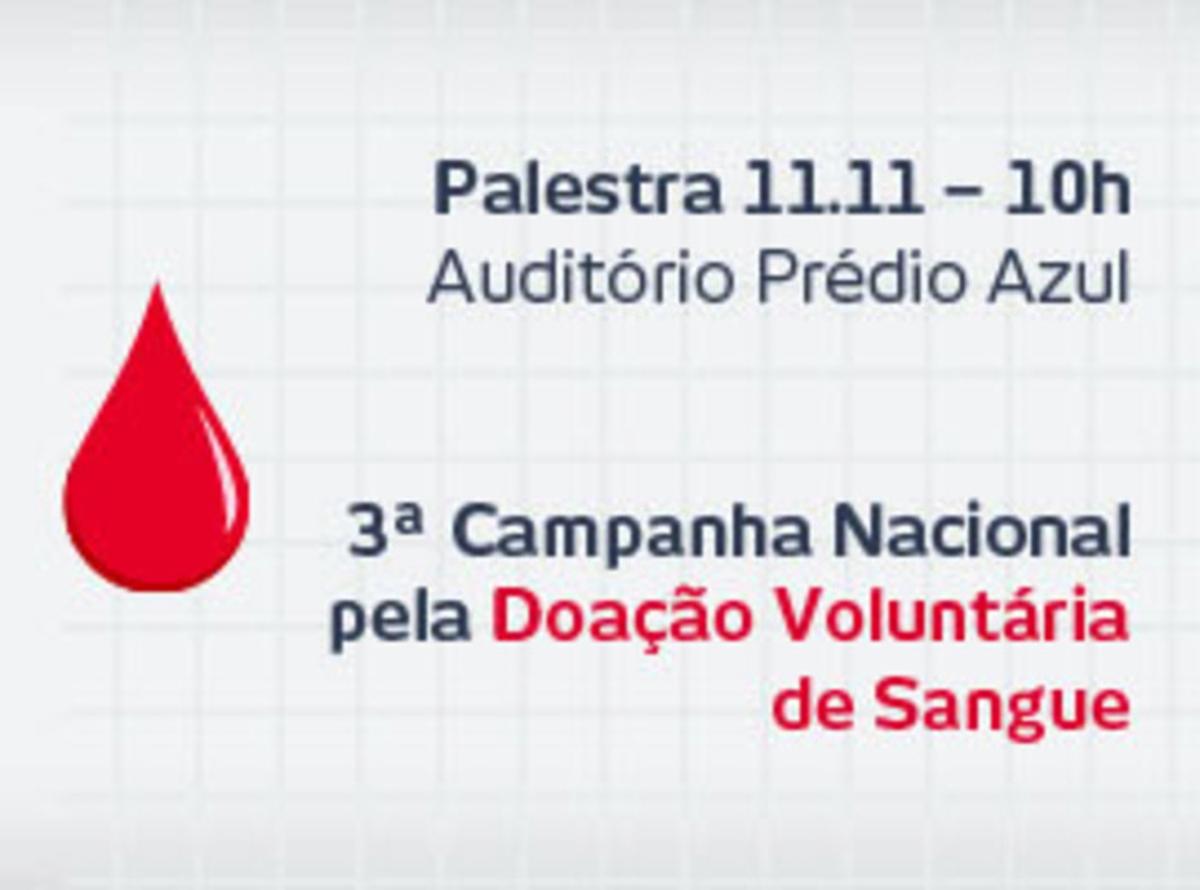 Palestra Doação de Sangue - 11/11/2015 - 10h - Cidade de Deus - Auditório Prédio Azul - Térreo