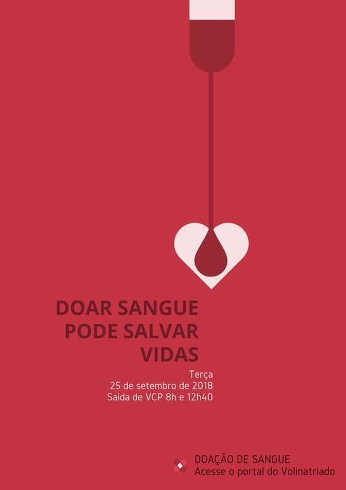 DOAR SANGUE PODE SALVAR VIDAS