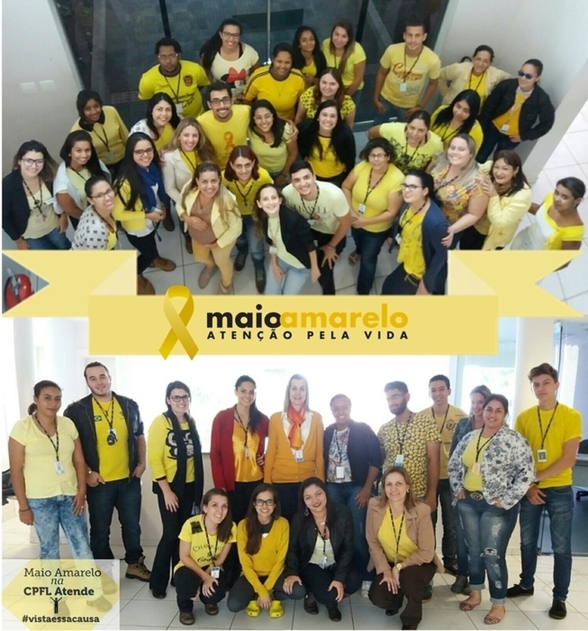 CPFL Atende junto ao movimento Maio Amarelo