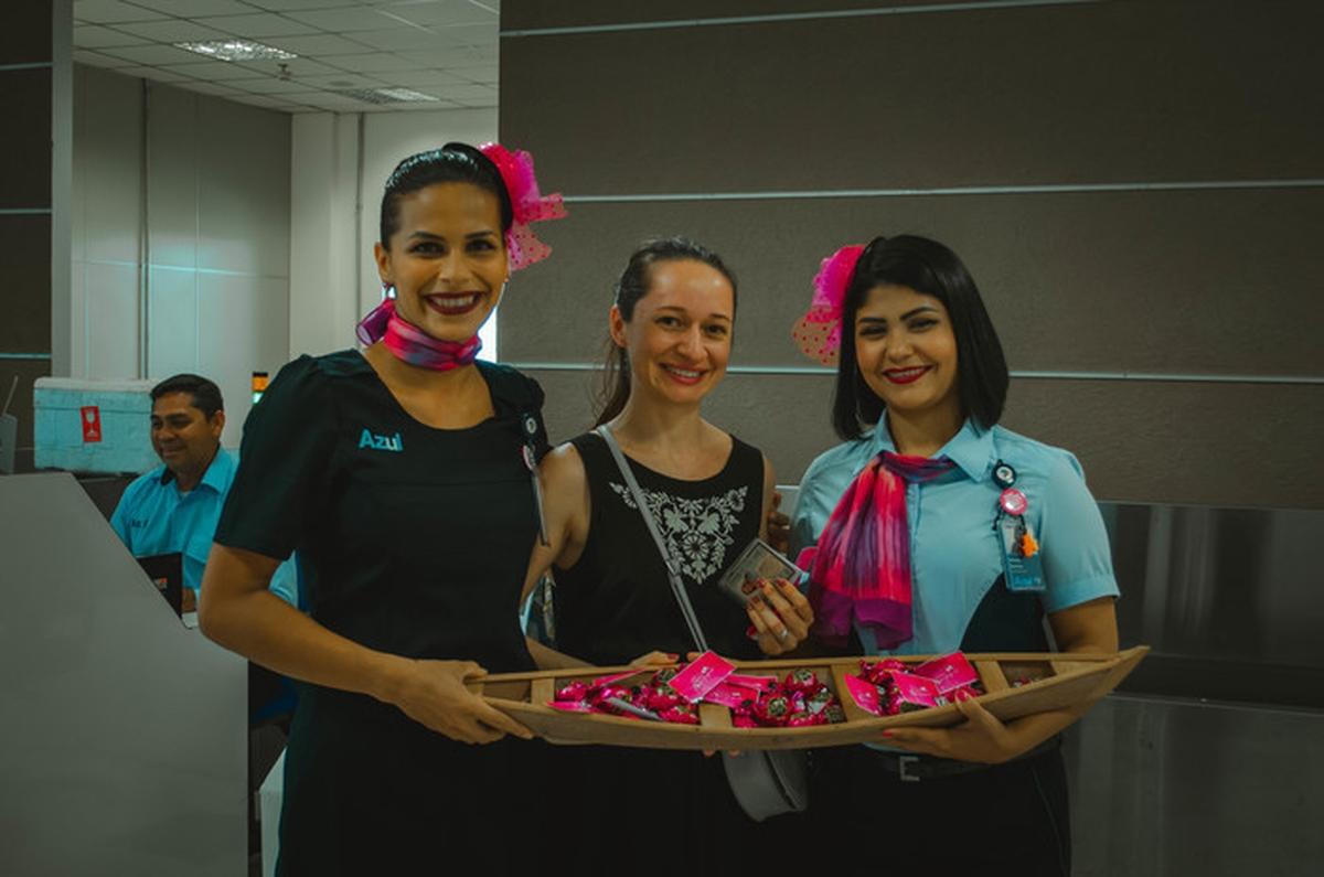 Amor em Se cuidar/ Unidas pelas prevenção do Câncer de Mama na base TFF