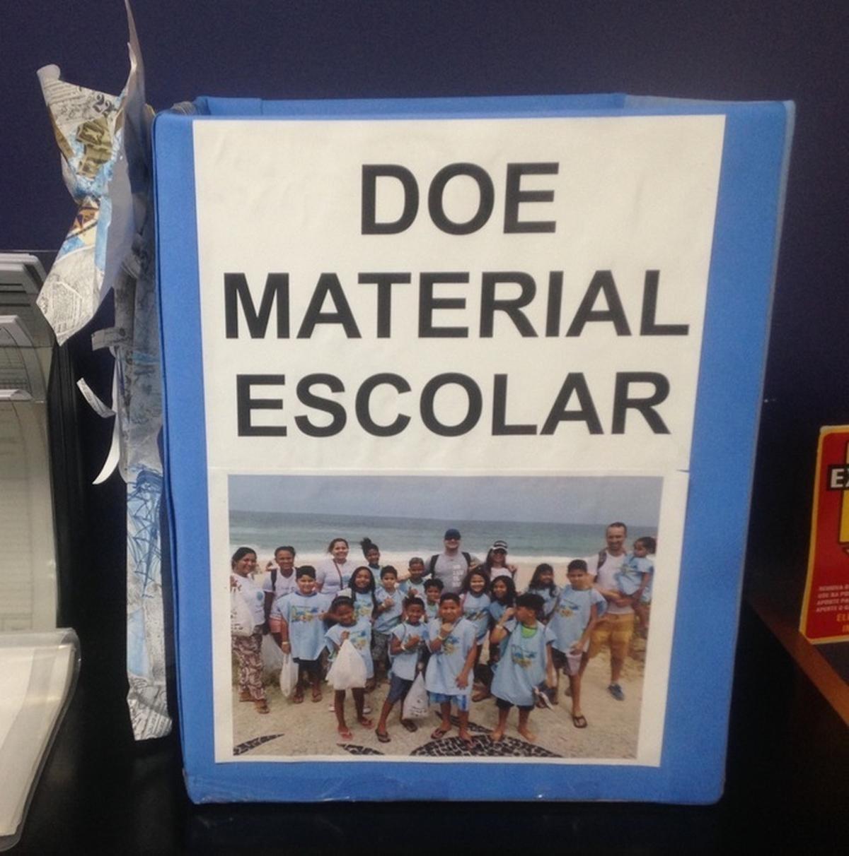 COMBATE A EVASÃO ESCOLAR - DOE MATERIAL ESCOLAR -  PROJETO NOTAS AZUIS