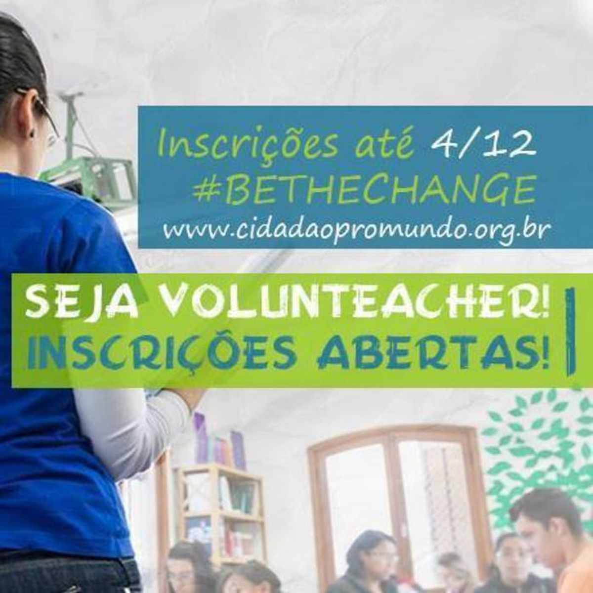 Be a Volunteacher!