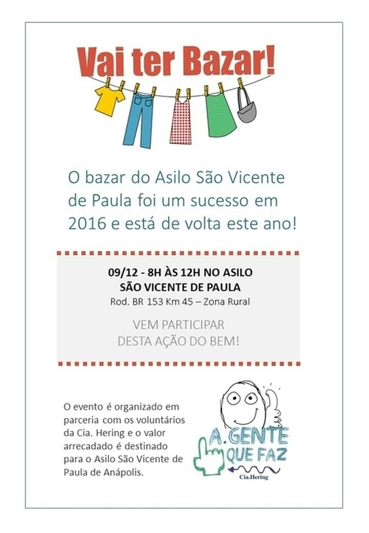 Bazar do bem❤ Asilo Vicente de Paula
