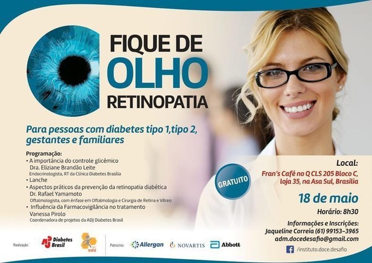 ADJ Diabetes Brasil promove campanha nacional sobre o controle do diabetes e a prevenção da retinopatia diabética