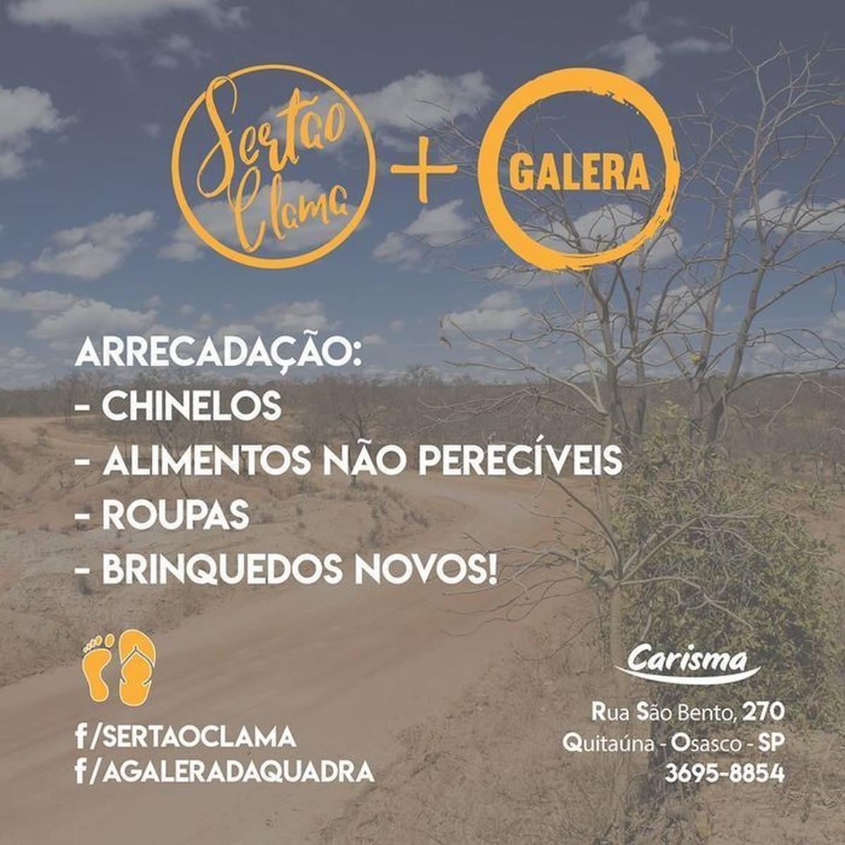 O SERTÃO CLAMA + GALERA DA QUADRA – COMUNIDADE CARISMA OSASCO