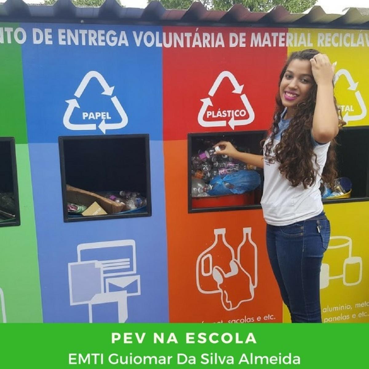 Limpa Brasil - Let's do it Escola Ponto Permanente de Recicláveis - EMTI Guiomar da Silva Almeida