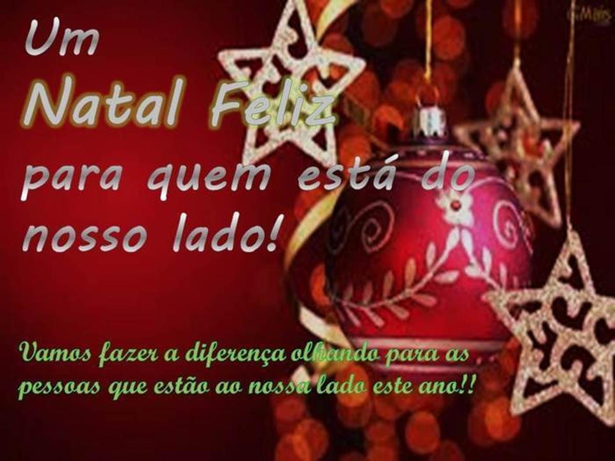 Um Natal Feliz para quem está do nosso lado!