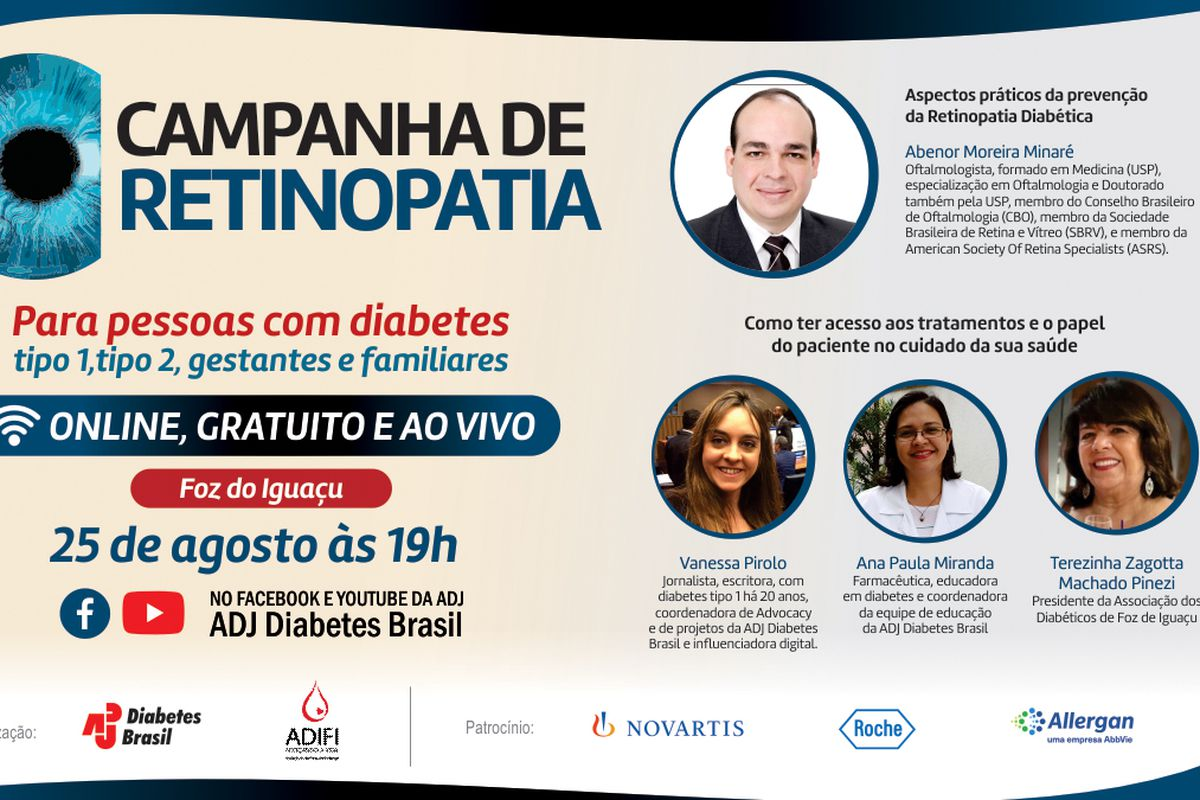ADJ Diabetes Brasil promove campanha nacional para prevenção da Retinopatia Diabética