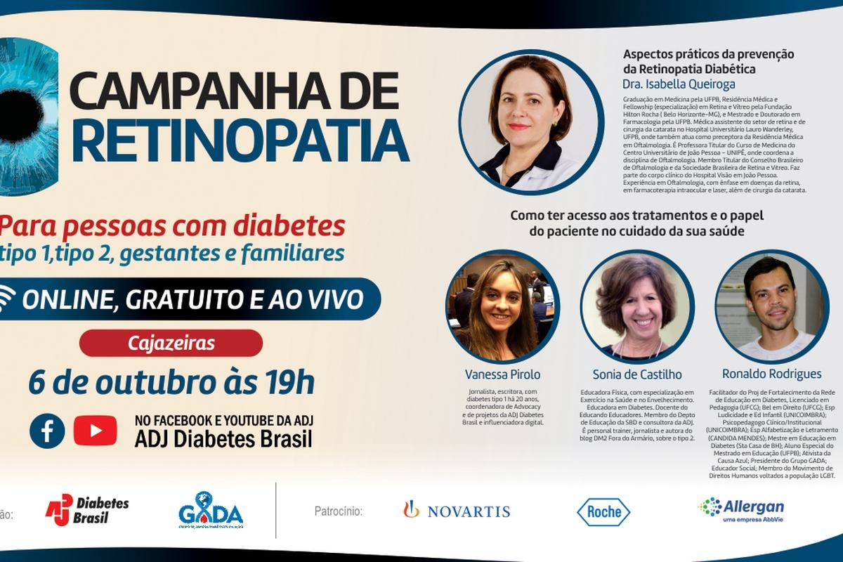 ADJ Diabetes Brasil promove campanha nacional para prevenção da Retinopatia Diabética e passa pela Paraíba