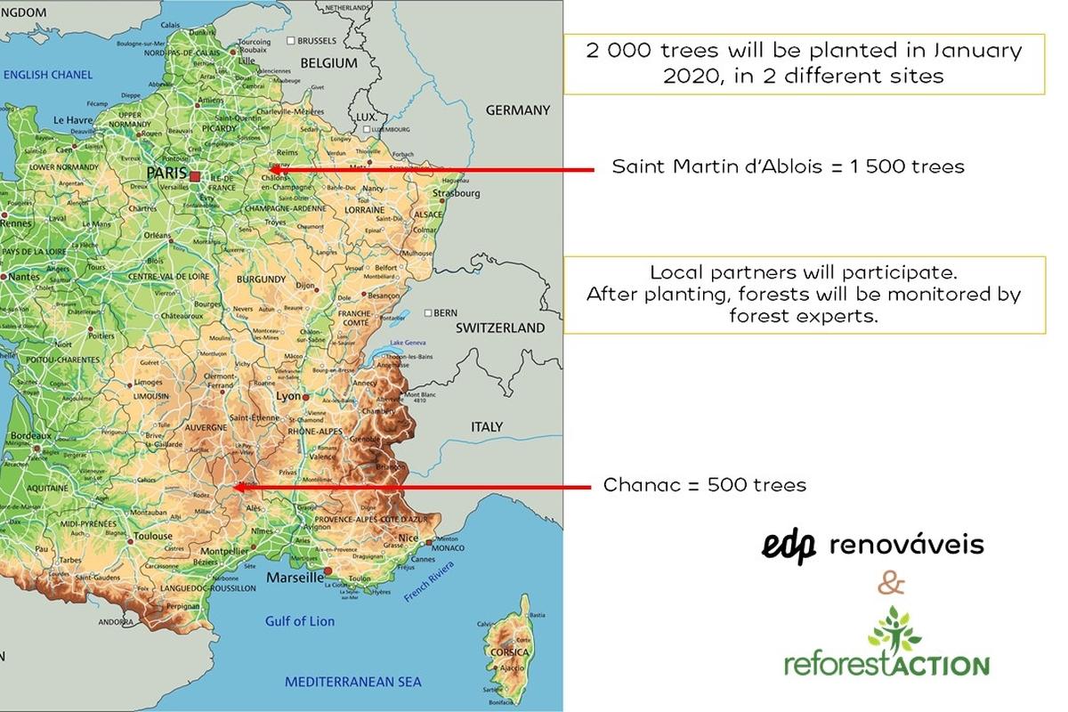 Compensation of our transportation carbon footprint -Francia