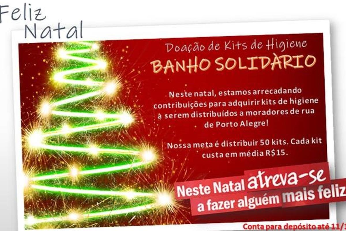 Doação Kits de Higiene- Banho Solidário- Porto Alegre/RS