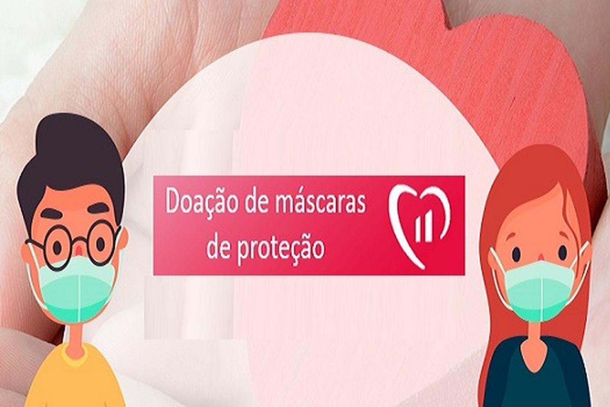 Doação de máscaras (Compradas pelo Bradesco)