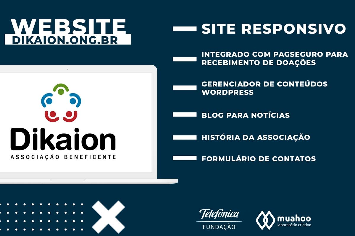 Desenvolvimento do Web Site Dikaion | Muahoo Laboratório