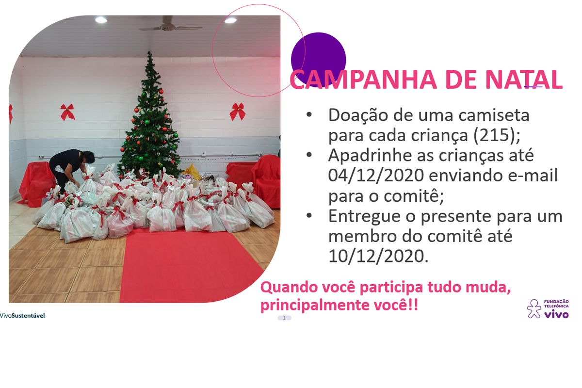 Campanha de Natal - 2020