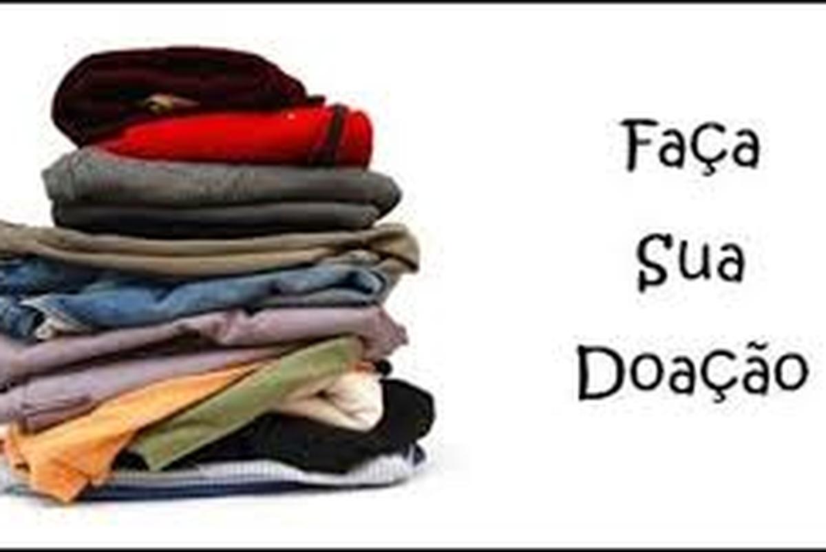 Arrecadação de roupas para o bazar do Sitio Agar