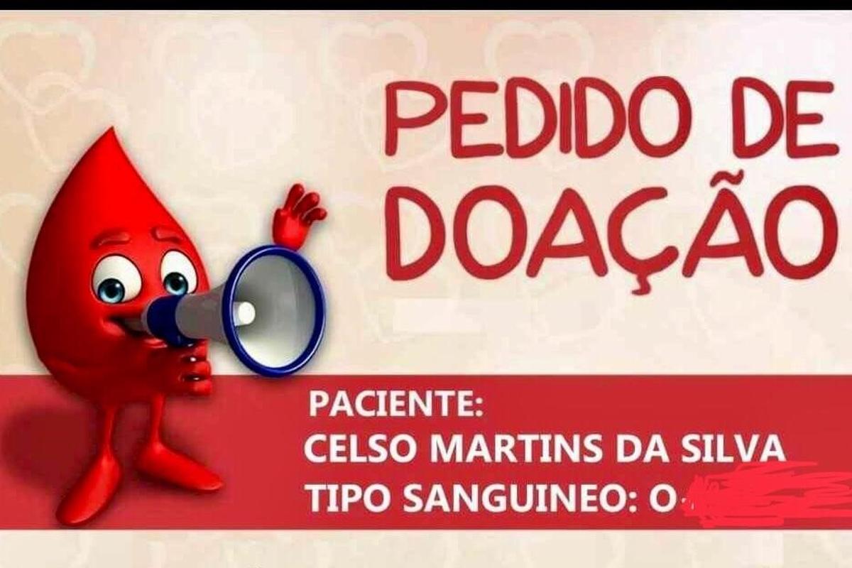 Pedido de doação de sangue